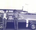 Joe Wilner and Bill Higgins with his '68 Olds 442.